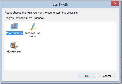 Multiple Options on How to Start a Program App