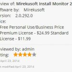 Mirekusoft Install Monitor 2.0 Now Available in Windows App Store