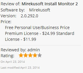 Mirekusoft Install Monitor 2 0 Now Available in Windows App Store