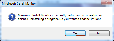 Install Monitor prompts you if a restart occurs during uninstall