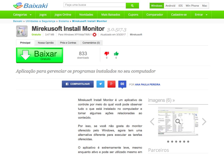 Baixaki Reviews Mirekusoft Install Monitor 2.0