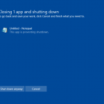 The Problem with the Shutdown Dialog