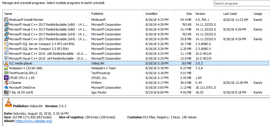 Instlal Monitor 4 Program Tab Screenshot