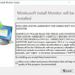Setup Improvements in Install Monitor