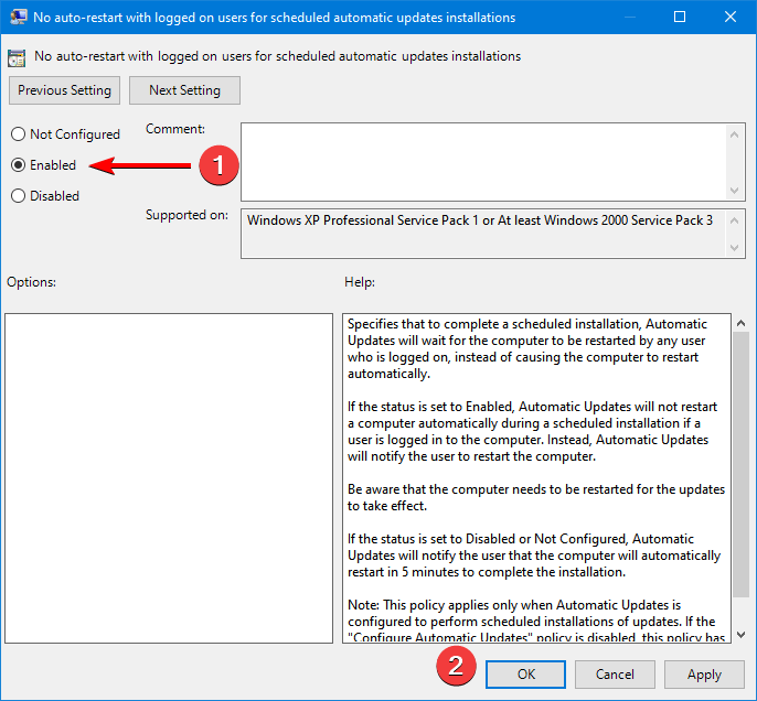 group policy configuration