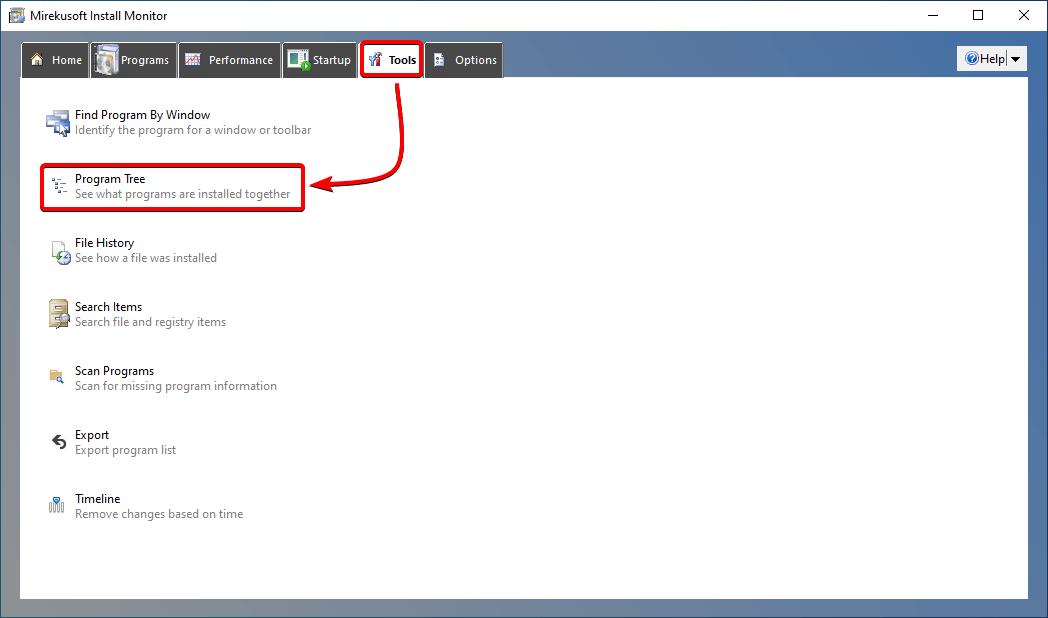 how to access program tree