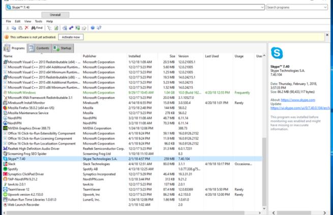 US Install Monitor Program List